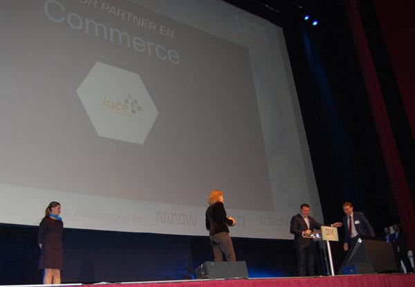 Javier Duran recoge el premio a mejor parter commerce